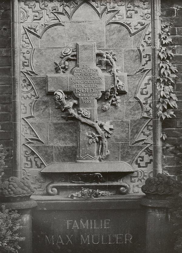 Grabmal der Familie Müller, ehemals Friedhof Borna, um 1924
