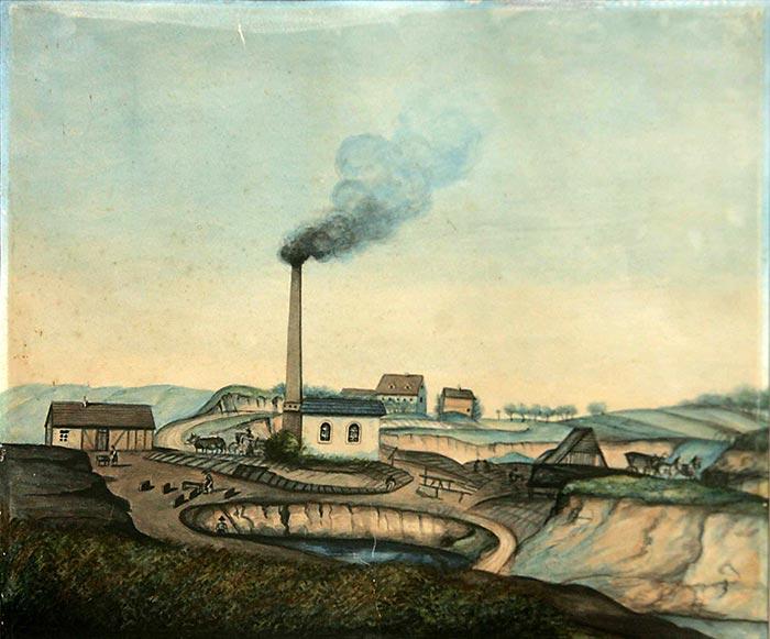 Torfwerk Niescher am Witznitzer Weg in Borna Nord, 1867