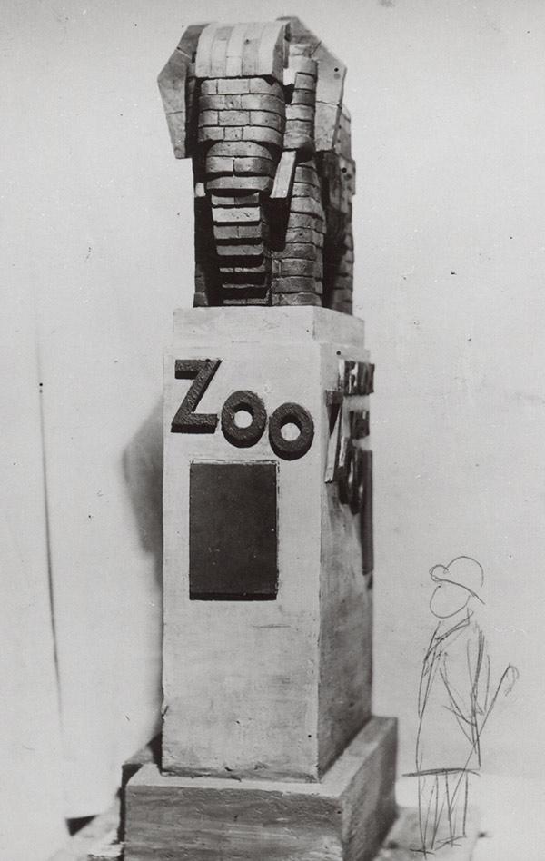 Plastikentwurf für den Zoo Leipzig