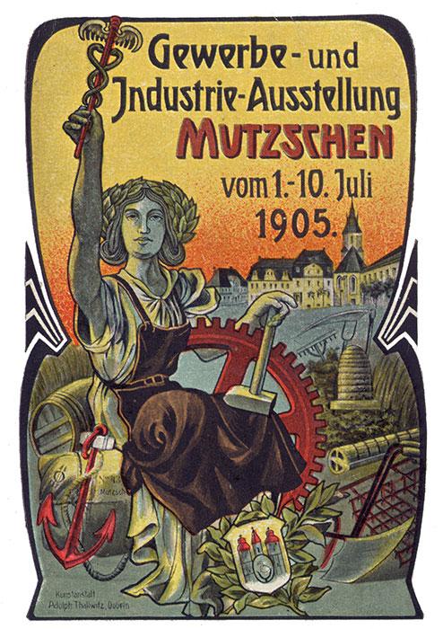Detail der zur Gewerbeausstellung 1905 erschienen Postkarte (Bernd Voigtländer)