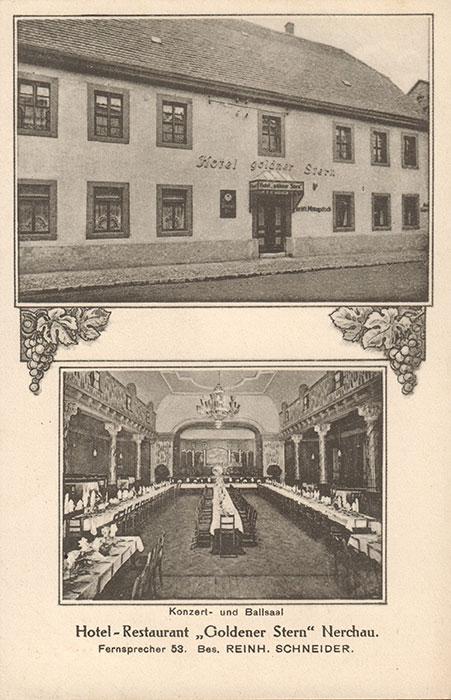 Der Gasthof zum Goldenen Stern, Postkarte um 1930 (Peter Fricke)
