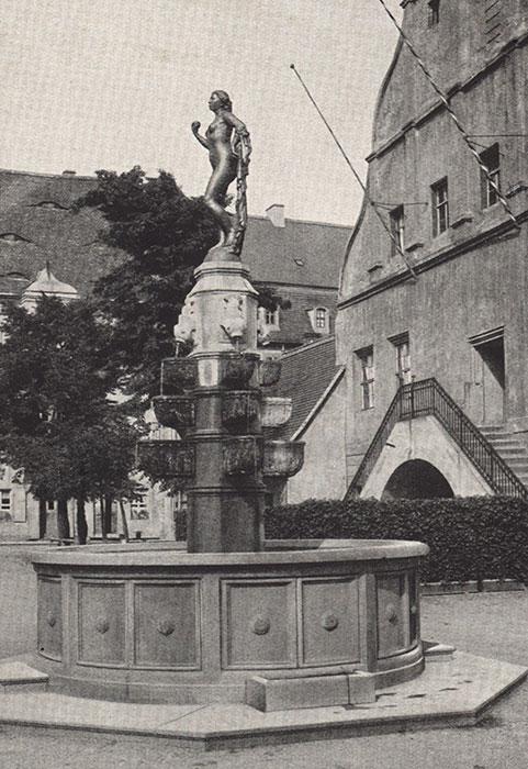 Marktbrunnen, Photographie 1915 (Kreismuseum)