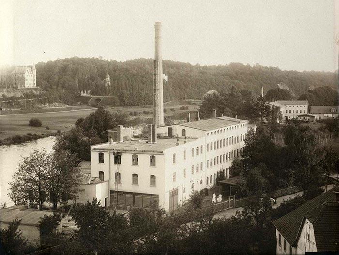 Handschuhfabrik um 1902
