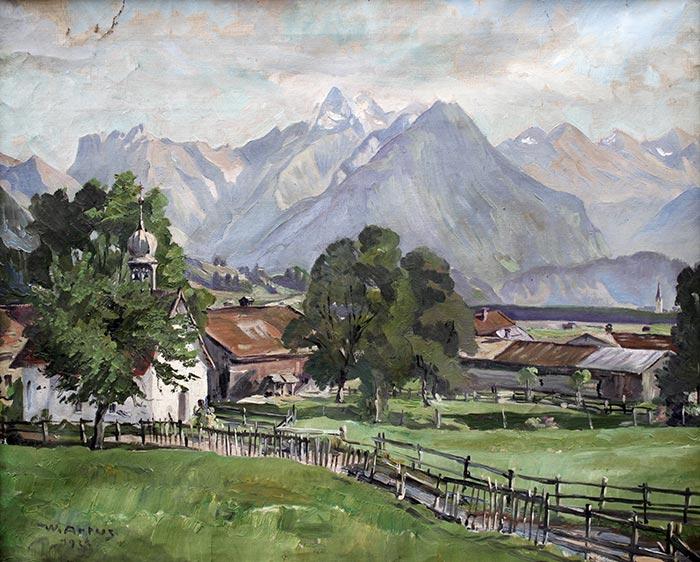 Alpenreisen des Malers Walter Artus