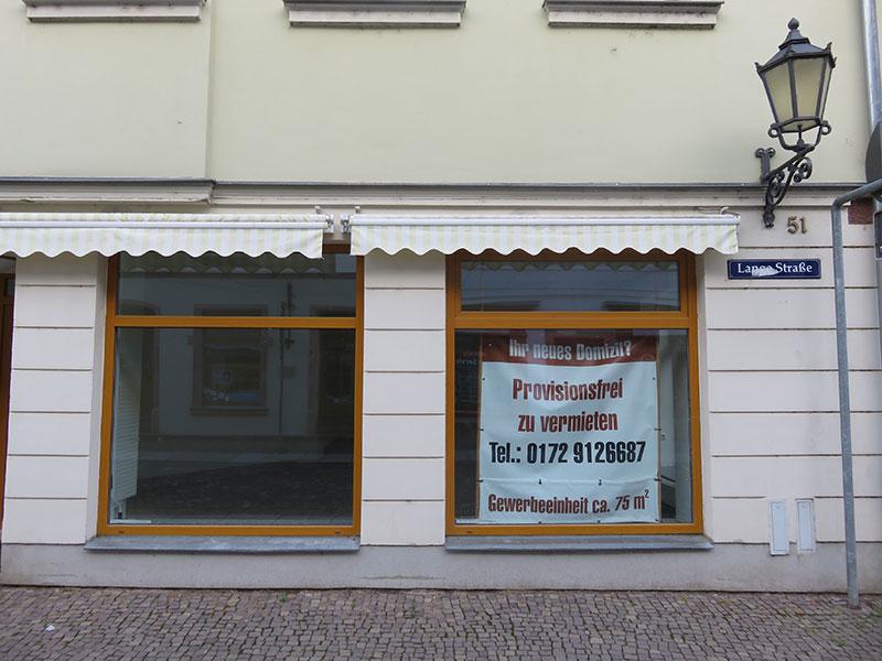 Leeres Geschäft auf der Langen Strasse, 2020
