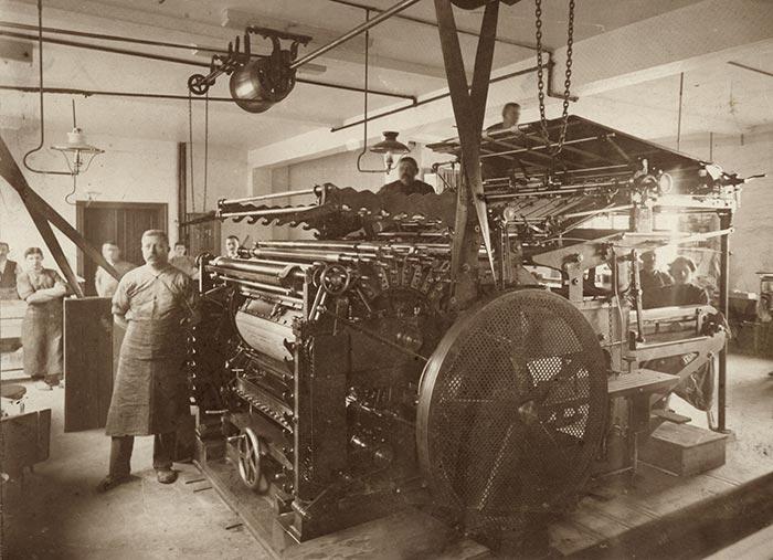 Druckersaal, 1901