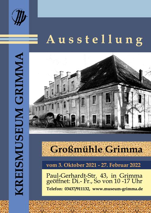 Plakat der Ausstellung Großmühle Grimma