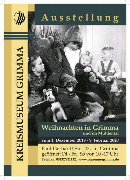 Plakat der Ausstellung Weihnachten in Grimma und im Muldetal
