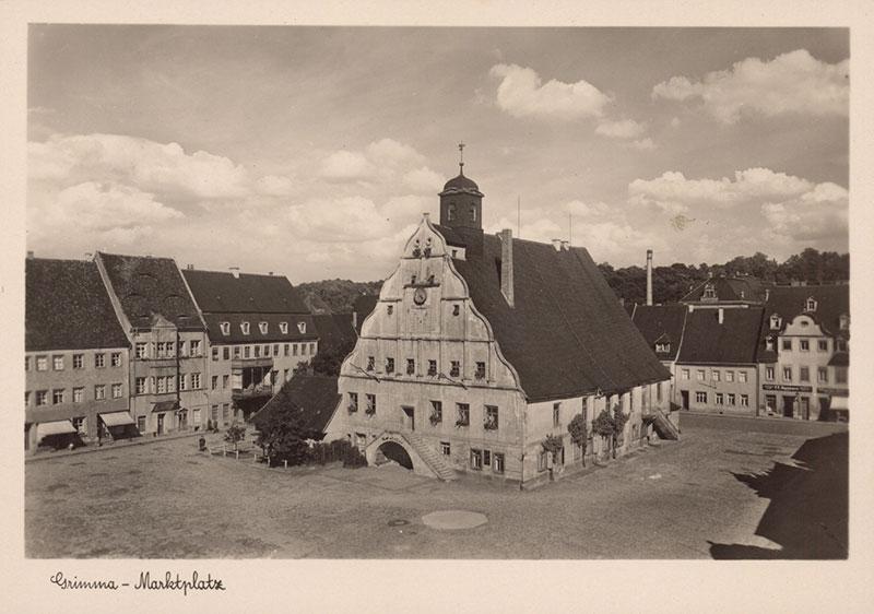 Marktplatz von Grimma von Hans Pippig, 1946