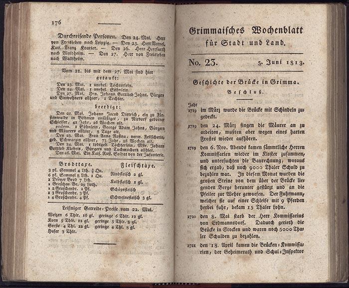 Grimmaisches Wochenblatt von 1813