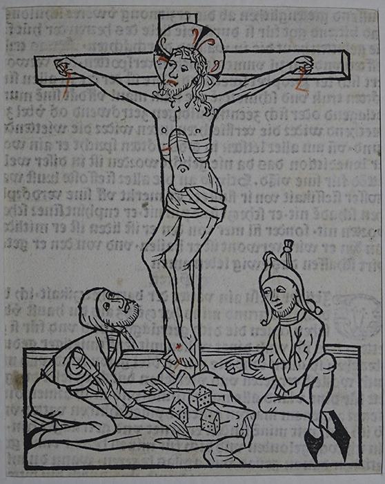 """Holzschnitt aus der Inkunabel """"Geistliche Auslegung des Lebens Jesu Christi"""" von Johann Zainer Ulm, 1482"""