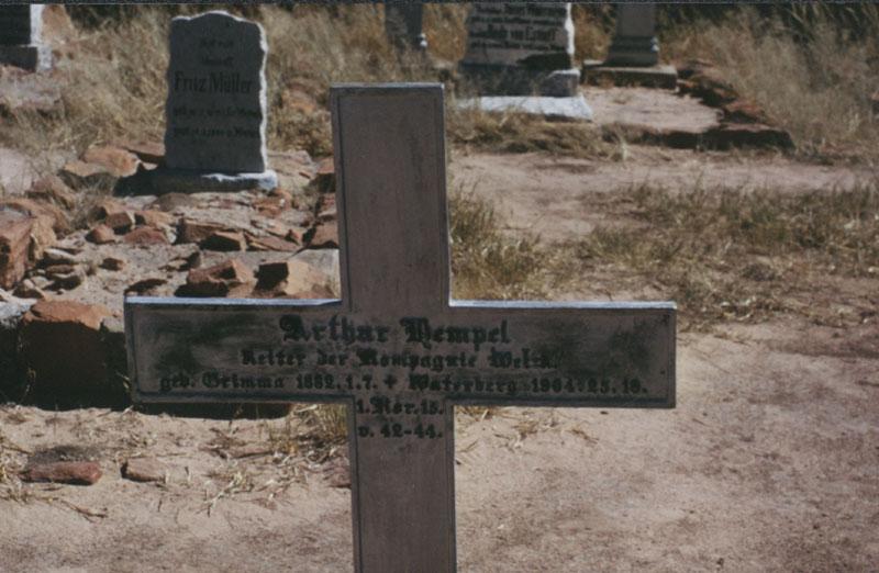 C 82 Grab von Arthur Hempel in Afrika, Foto um 2000 von R. Nitzsche, Köln