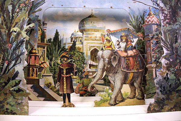 """Papiertheater """"Indischer Palast"""" von J.F.Schreiber, Esslingen"""