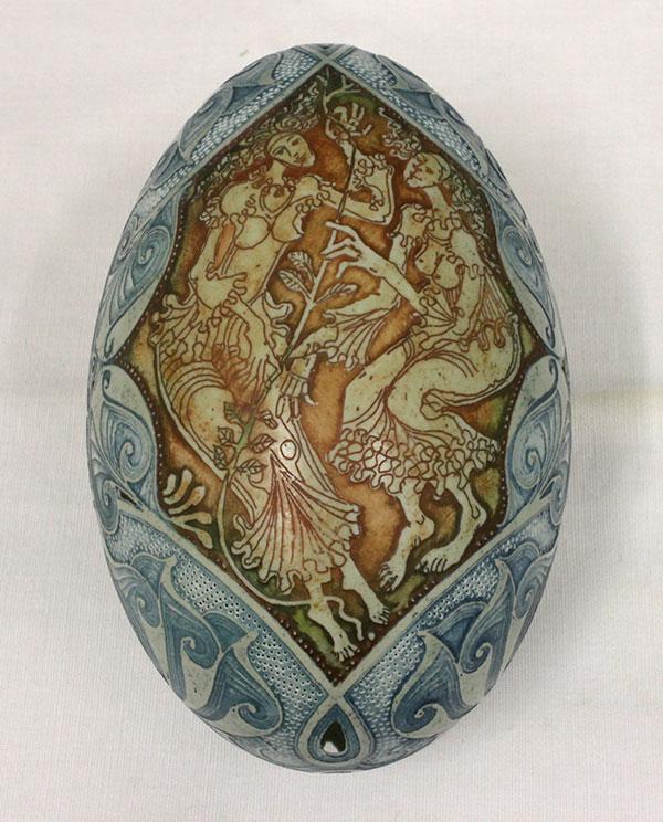 Verziertes Ei von Csuhay Tünde aus Ungarn