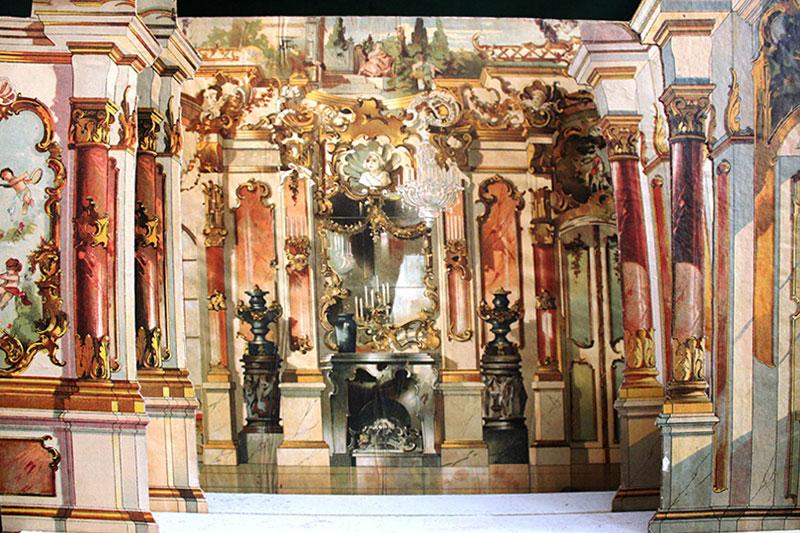 """Papiertheater """"Rokokosaal"""" von J.F.Schreiber, Esslingen"""
